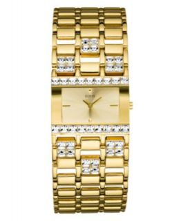 GUESS Watch, Womens Gold Tone Multi Chain Bracelet 48x40mm U0085L1