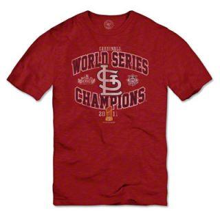 St. Louis Cardinals Red 2011 World Series Champions Arch Scrum T Shirt