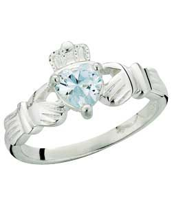 Buy Sterling Silver Cubic Zirconia Heart Claddagh Ring at Argos.co.uk