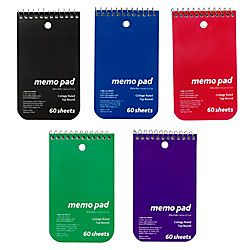 Office Depot® Brand Wirebound Top Opening Memo Books, 3 x 5, 1 Hole