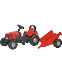 Buy Rolly Toys Case Tractor with Roll Bar and Trailer at Argos.co.uk