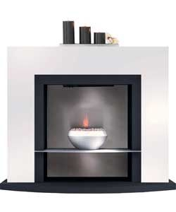 Buy Adam Athena Black and White Electric Fire Suite at Argos.co.uk