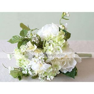 Wholesale Delicate Floral Silk Flowers Bridal Wedding Bouquet