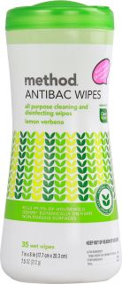 Method Antibac Wipes All Purpose Cleaning and Disinfecting Wipes Lemon