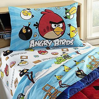 Angry Birds Twin Sheet Set   Bed & Bath   Bedding Essentials   Sheets