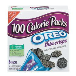 Nabisco 100 Calorie Oreo Thin Crisps Snack Packs 074 Oz Pack Of 6 by