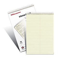 Office Depot Brand Steno Books 6 x 9 Gregg Ruled 70 Sheets Greentint
