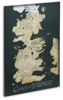 Game of Thrones Canvas Map Poster