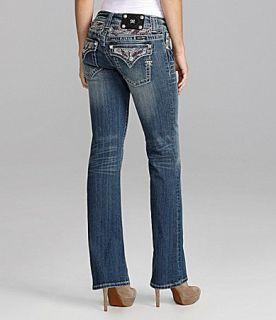 Miss Me Jeans Rhinestone Embellished Bootcut Jeans  Dillards