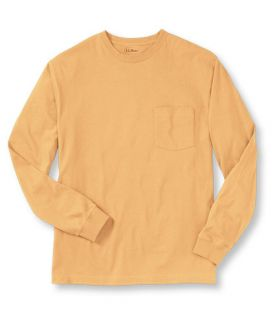 Carefree Unshrinkable Tee, Long Sleeve with Pocket T Shirts  Free