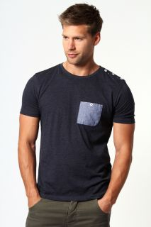 Mens Clothing  T shirts & Vests  Chambray Pocket