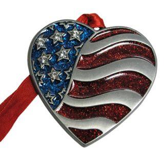 American Flag Heart Christmas Ornament  Meijer