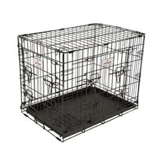 Home Dog Carriers, Crates & Kennels Petmate 2 Door Elite Retreat Wire