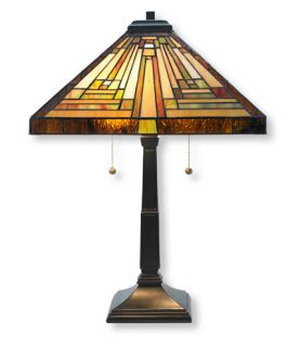 Stained Glass Table Lamp Lighting   at L.L.Bean