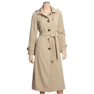 London Fog Long Raincoat   Faux Silk, Zip Out Liner (For Women)   Save