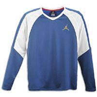 Jordan Super Fly Shooting Shirt   Mens   Blue / White