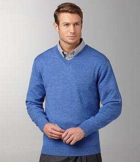 Turnbury Merino Wool V Neck Sweater  Dillards
