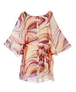 null (Multi Col) Lovedrobe Abstract Swirl Kimono Tunic  259553399