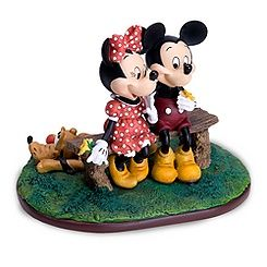 Puppy Love Mickey Mouse and Minnie Mouse Figurine