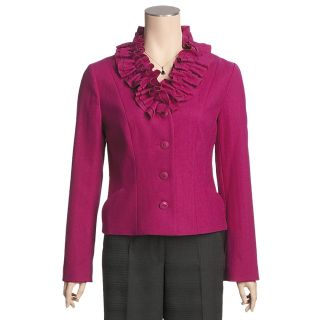 Madison Hill Ruffle Collar Jacket   Boiled Wool (For Women)   Save 60%
