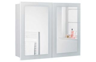 Mirror Door Bathroom Cabinet   White. from Homebase.co.uk