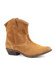 Tan (Stone ) Limited Tan Suede Cowboy Ankle Boots  258913818  New