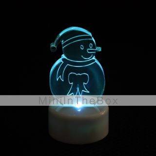 Snowman Design Colorful LED Night Light Christmas Festival Decoration