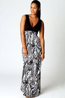 Clothing  Maxi Dresses  Talia Zebra Print Maxi Dress