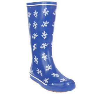 University of Kentucky Womens Rain Boots   Scattered Logo Pattern