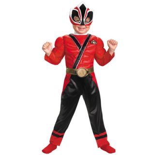 Power Rangers Red Samurai Ranger Muscle Chest Toddler Costume   2T and