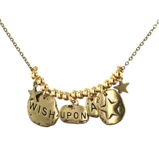 West Coast Jewelry Wish Upon a Star Charm Necklace in Gold Over Silver
