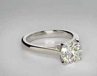 Tapered Cathedral Engagement Ring in Platinum  Blue Nile