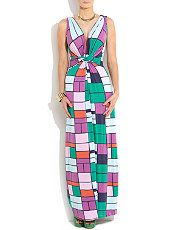 null (Multi Col) N and Willow Brightly Patterned Nodo Maxi Dress