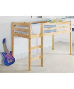 Childrens Metal Mid Sleeper Boys Girls Cabin Bunk Bed Ladder Tent