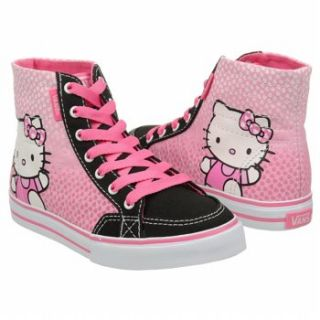 Athletics Vans Kids Hello Kitty Corrie Hi Pink/Black FamousFootwear