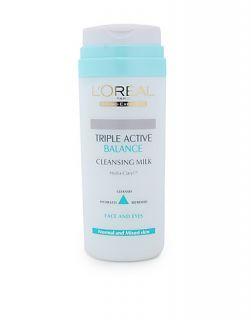 Triple Active Balance Cleansing Milk   LOréal Paris   White   Facial