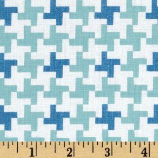 Millies Closet Herringbone Coat Blue   Discount Designer Fabric