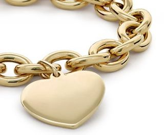 Heart Tag Bracelet in 14k Yellow Gold  Blue Nile