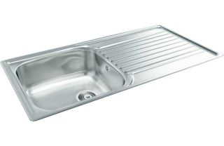 Carron Phoenix Contessa 100 Stainless Steel Sink from Homebase.co.uk