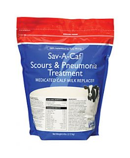 Sav A Caf Scours & Pneumonia Treatment Complete Calf Milk Replacer, 6