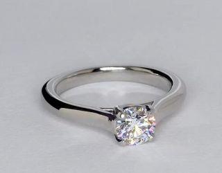 Petite Trellis Solitaire Engagement Ring in Platinum  Blue Nile