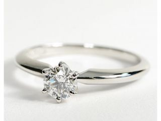 Classic Six Claw Engagement Ring in Platinum  Blue Nile