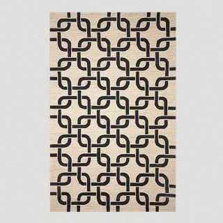 Chains Indoor Outdoor Rug, Black/Neutral  World Market