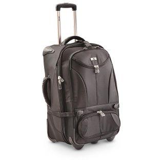 High Sierra Expandable Wheeled Duffel Bag, Black   941314, Wheeled