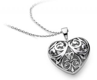 Filigree Heart Pendant in Sterling Silver  Blue Nile