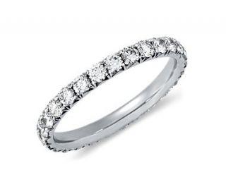 Pavé Diamond Eternity Ring in Platinum  Blue Nile