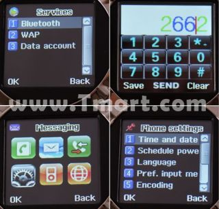 Mq998 1.5 Quad Band Touch Screen Wrist Watch Cell Phone with Camera