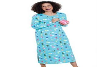 Plus Size Holiday print sleepshirt by Dreams & Co.®  Plus Size
