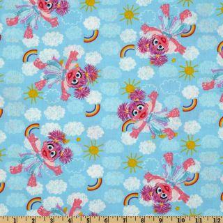 Sesame Street Abby Cadabby Blue   Discount Designer Fabric   Fabric
