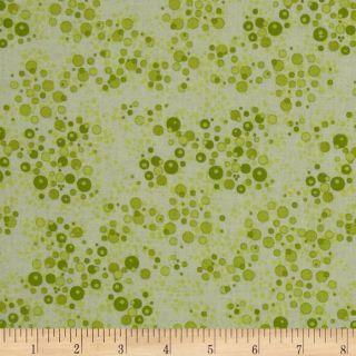 Life is Tweet Bubble Dots Green   Discount Designer Fabric   Fabric